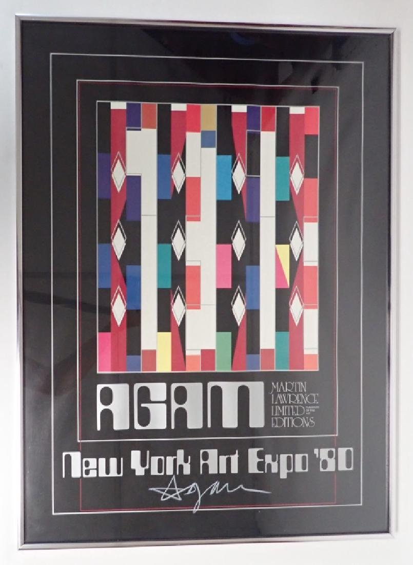 Yaacov Agam - New York Art Expo 1980 - Hand Signed