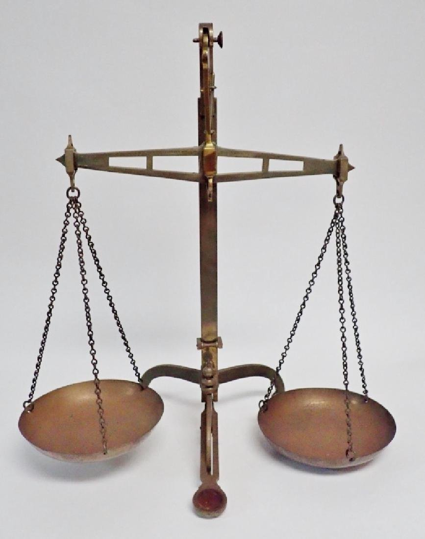 Antique Brass Balance Scales by DeGrave & Co.