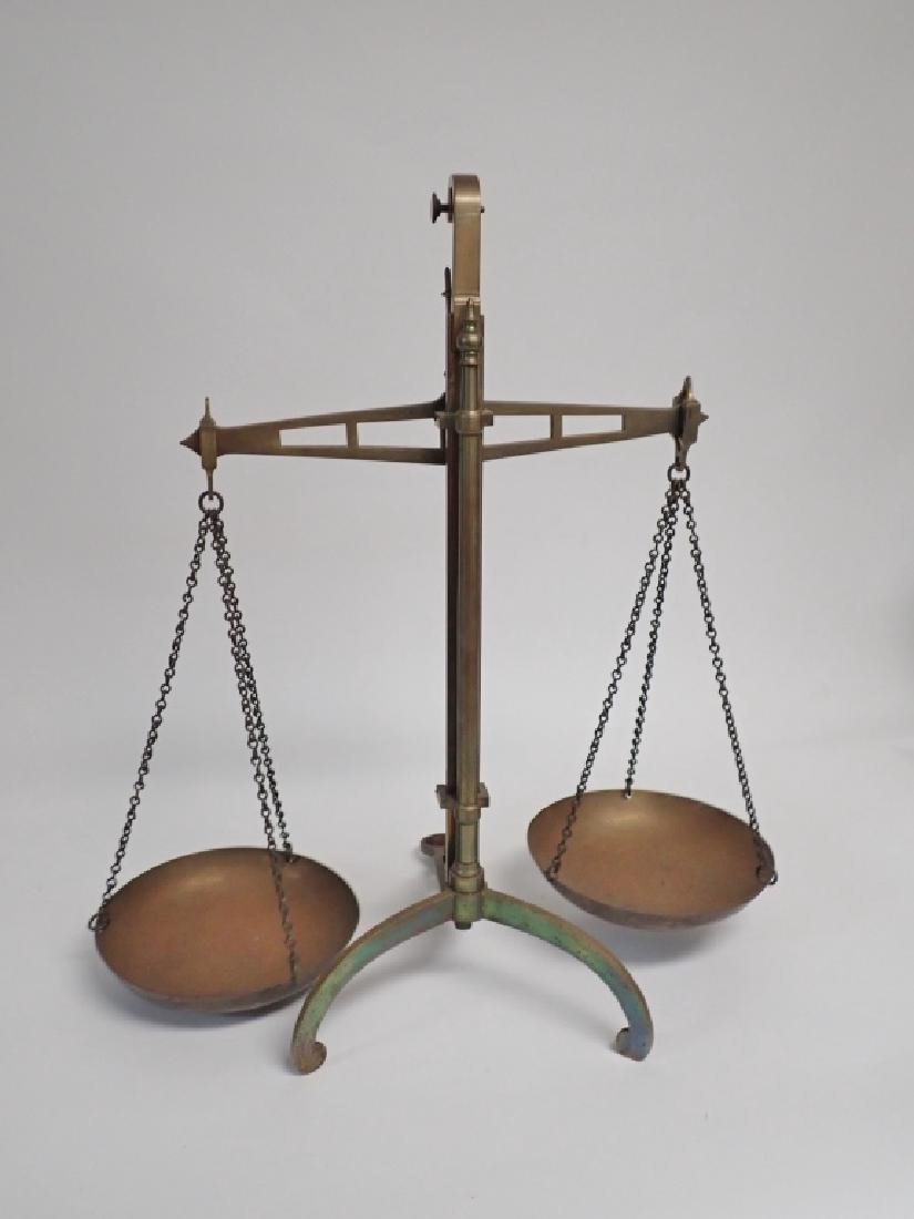 Antique Brass Balance Scales by DeGrave & Co. - 4