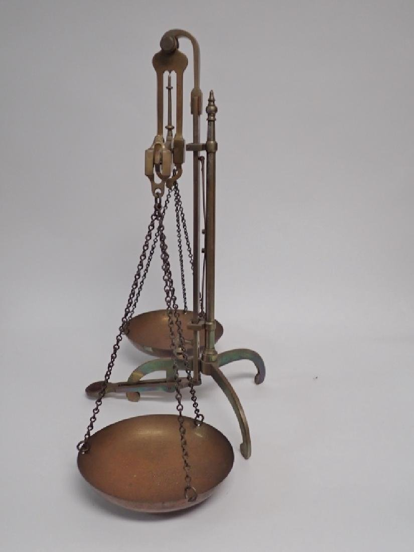 Antique Brass Balance Scales by DeGrave & Co. - 5