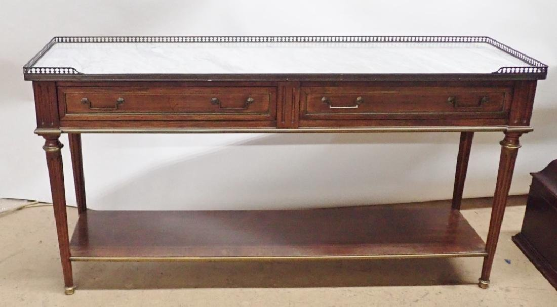 Italian Marble Top Console - 10