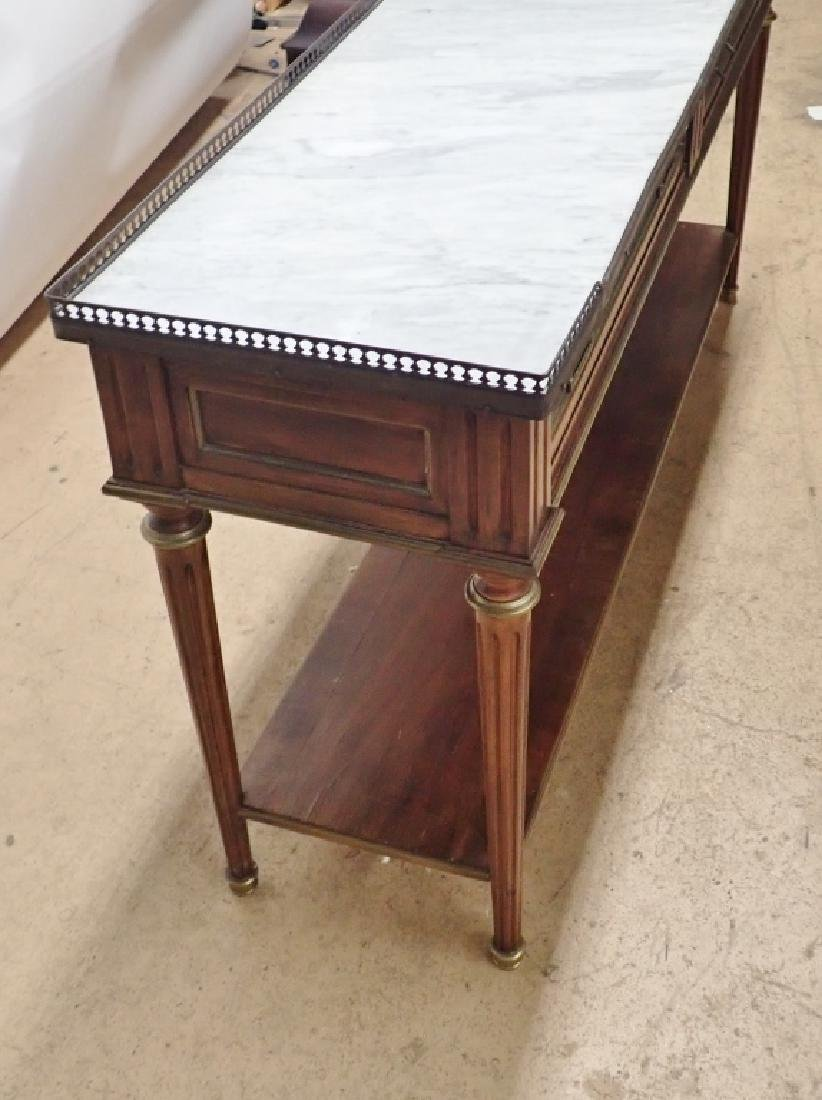 Italian Marble Top Console - 7