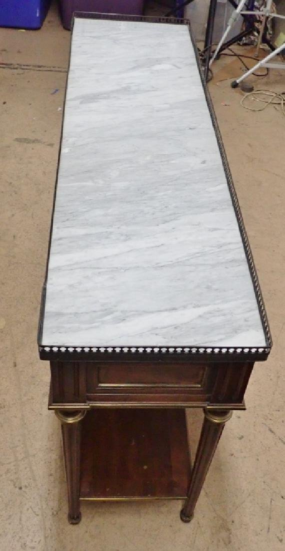Italian Marble Top Console - 9