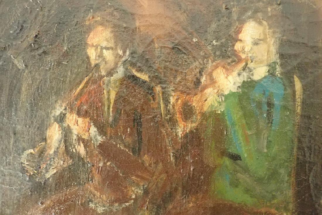 Framed Oil Painting of Jazz Musicians - 3
