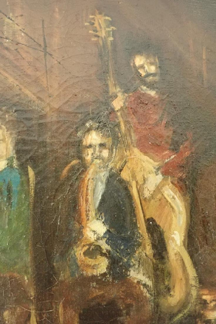 Framed Oil Painting of Jazz Musicians - 4
