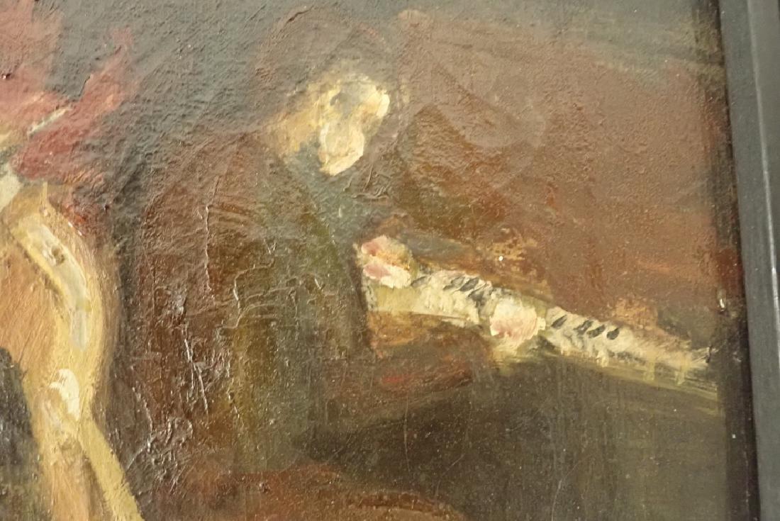 Framed Oil Painting of Jazz Musicians - 5