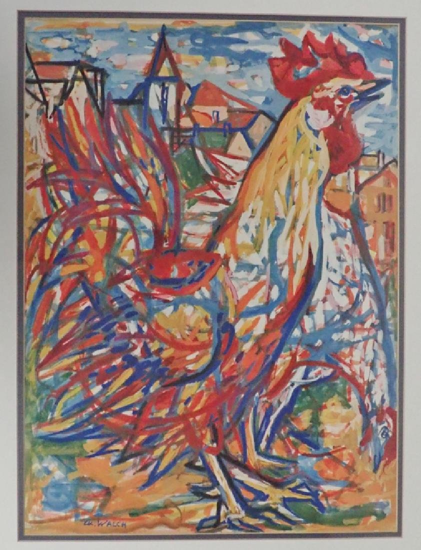 Charles Walch Rooster Print