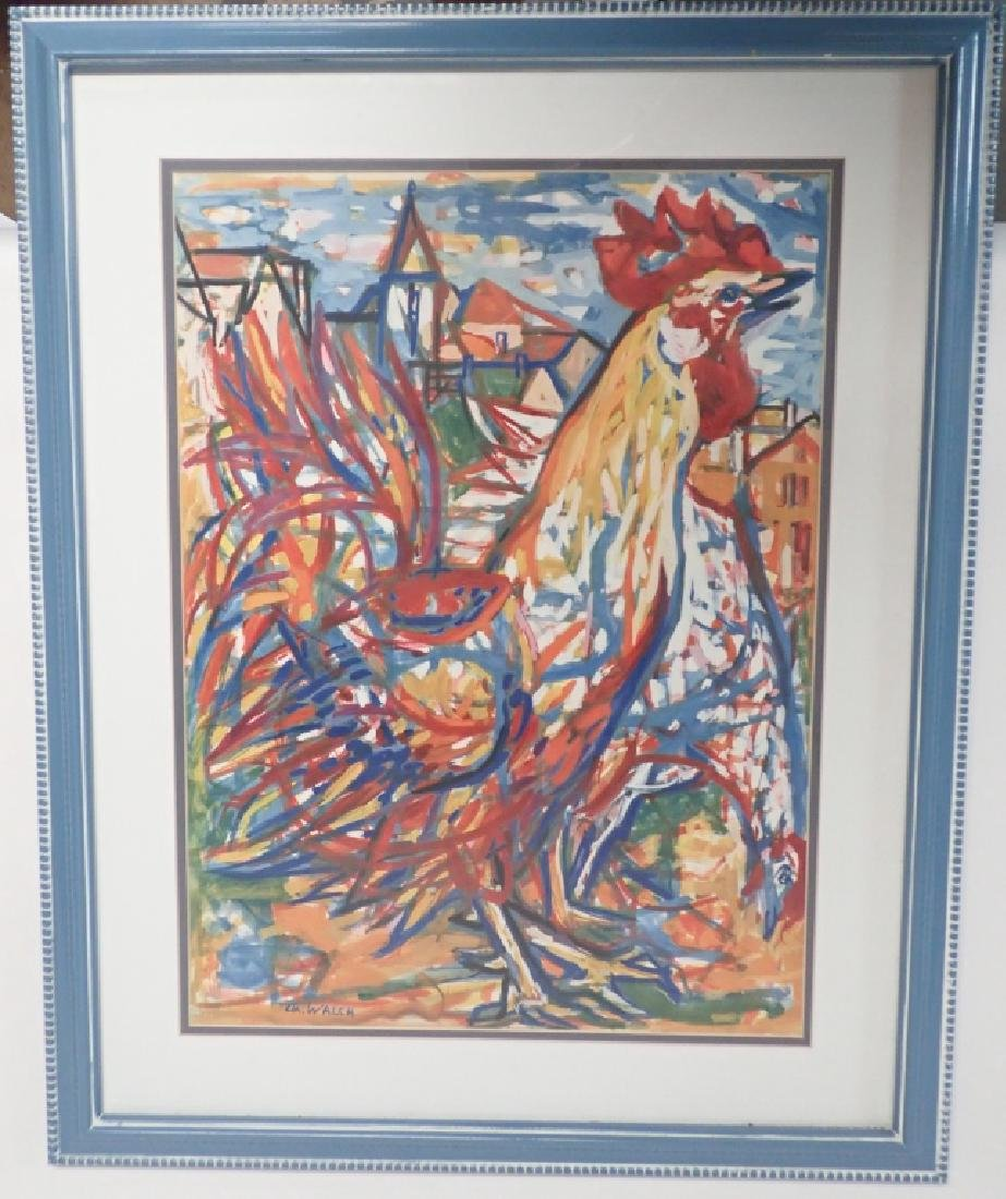 Charles Walch Rooster Print - 2