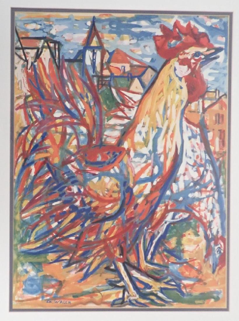 Charles Walch Rooster Print - 6