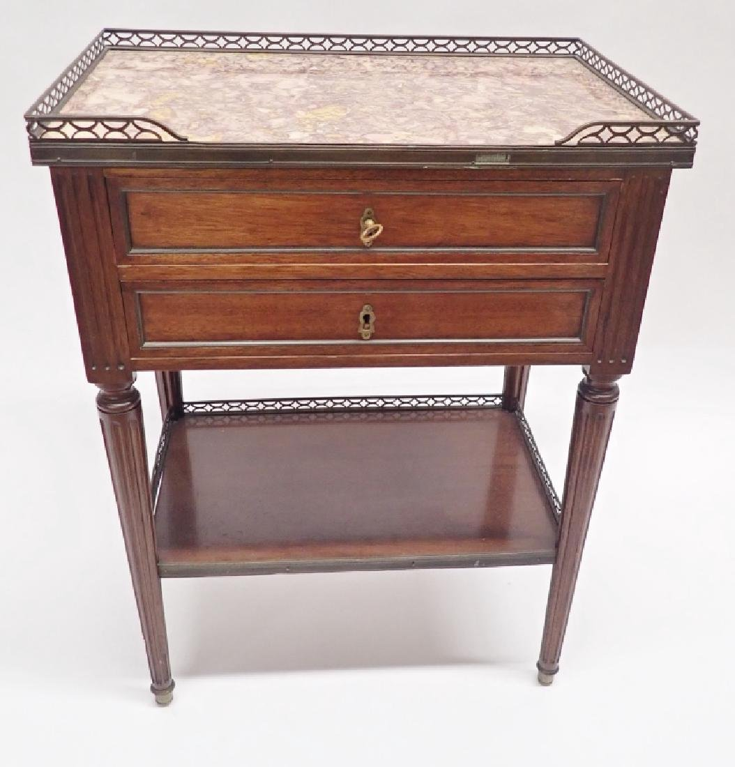 Marble Top Side Table - 2