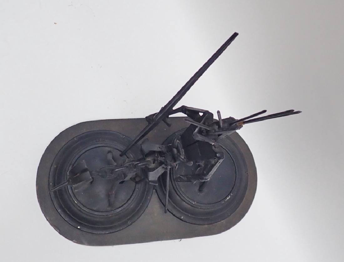 Recycled Metal Art Sculpture of Warrior on Horse - 6