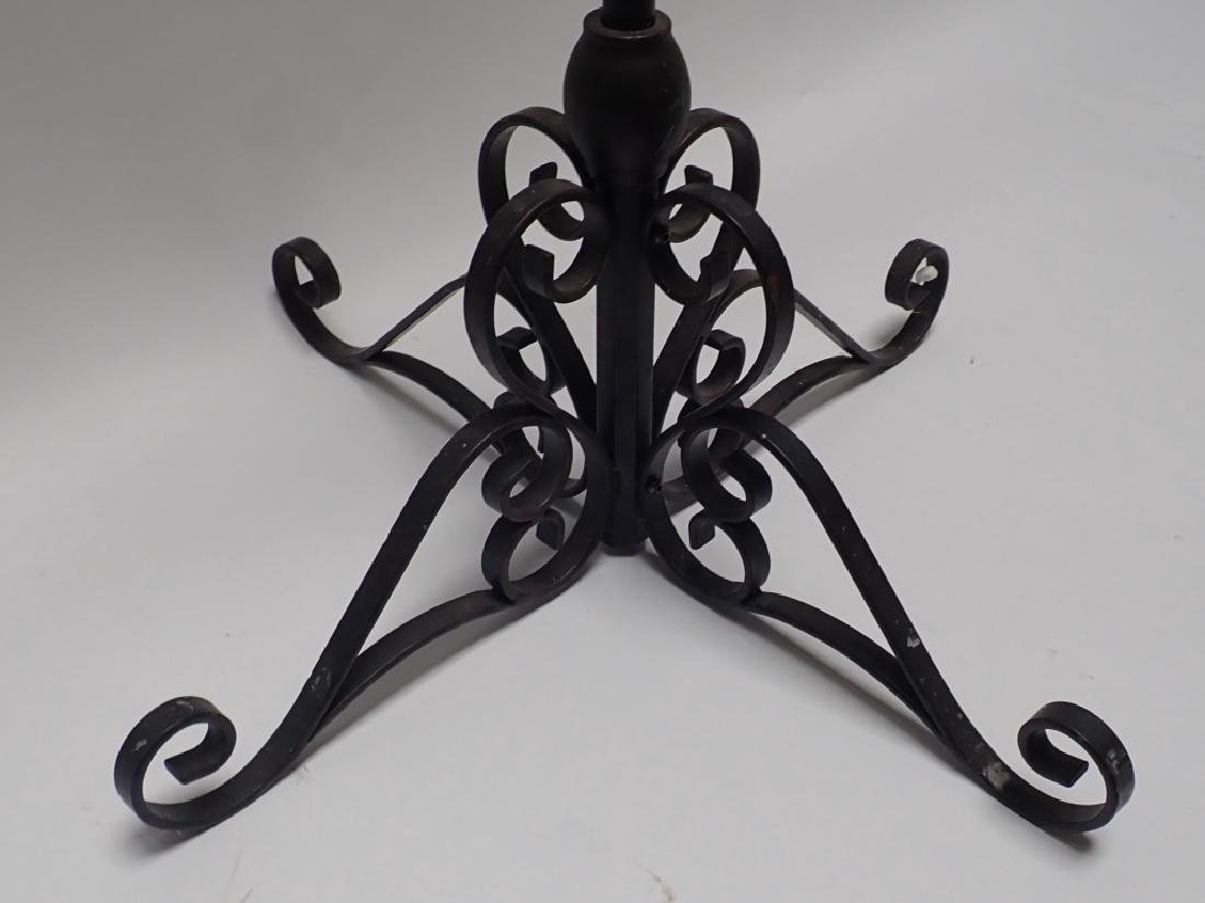 Pair of 5' Tall Iron Floor Candelabras - 3