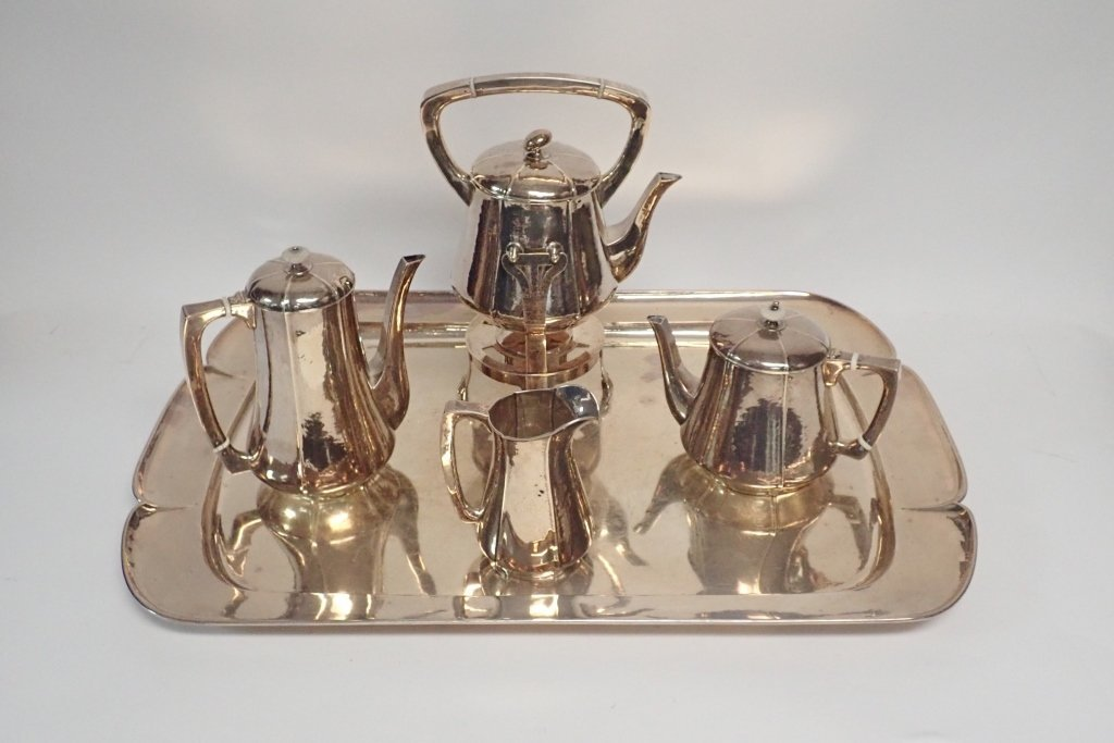 Large Kalo Sterling Silver Coffee & Tea Service