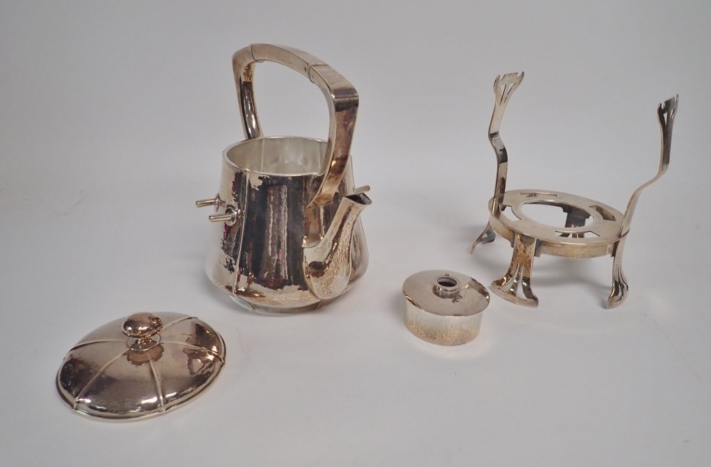 Large Kalo Sterling Silver Coffee & Tea Service - 3