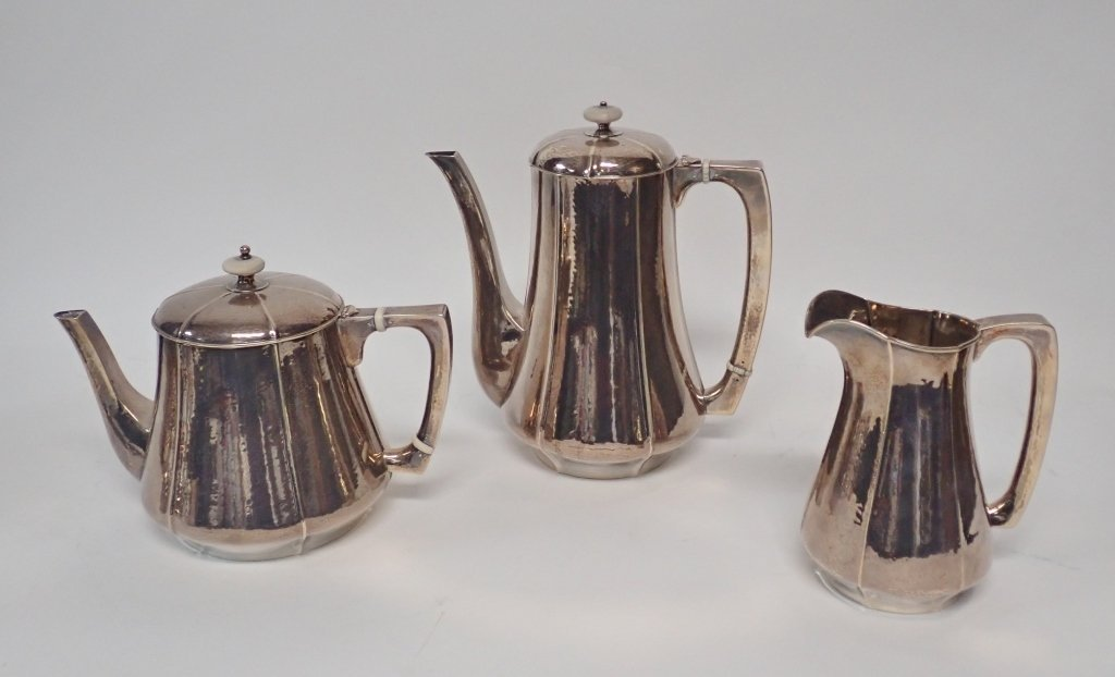 Large Kalo Sterling Silver Coffee & Tea Service - 5