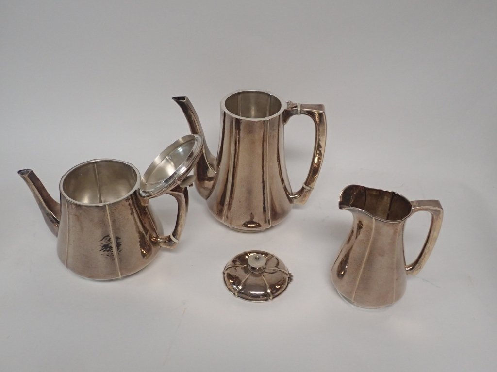 Large Kalo Sterling Silver Coffee & Tea Service - 6