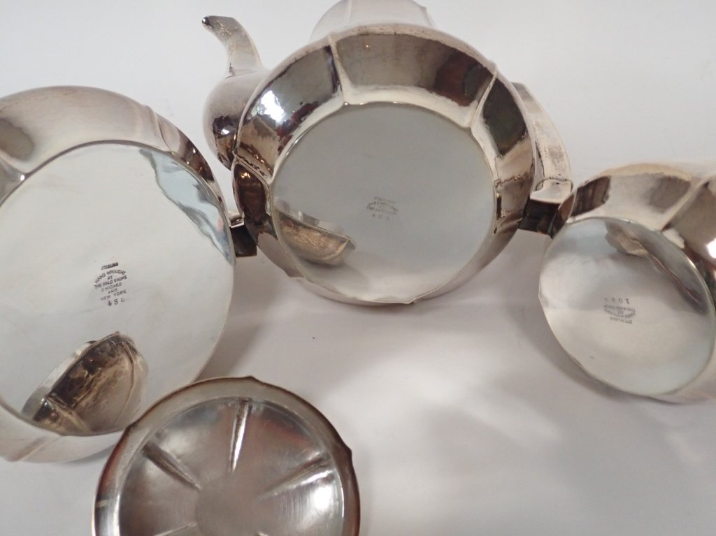 Large Kalo Sterling Silver Coffee & Tea Service - 7