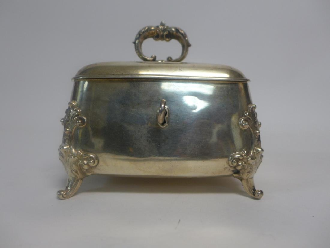 Sterling Silver Footed Trinket Box