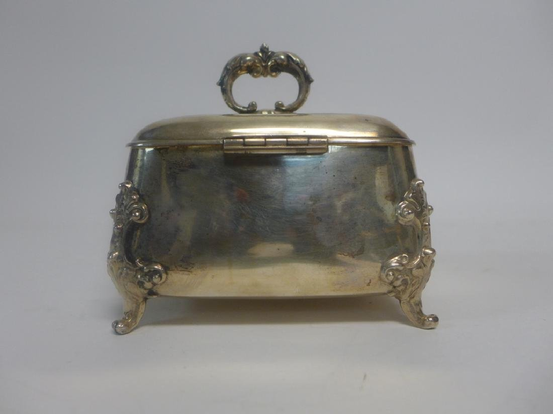 Sterling Silver Footed Trinket Box - 3