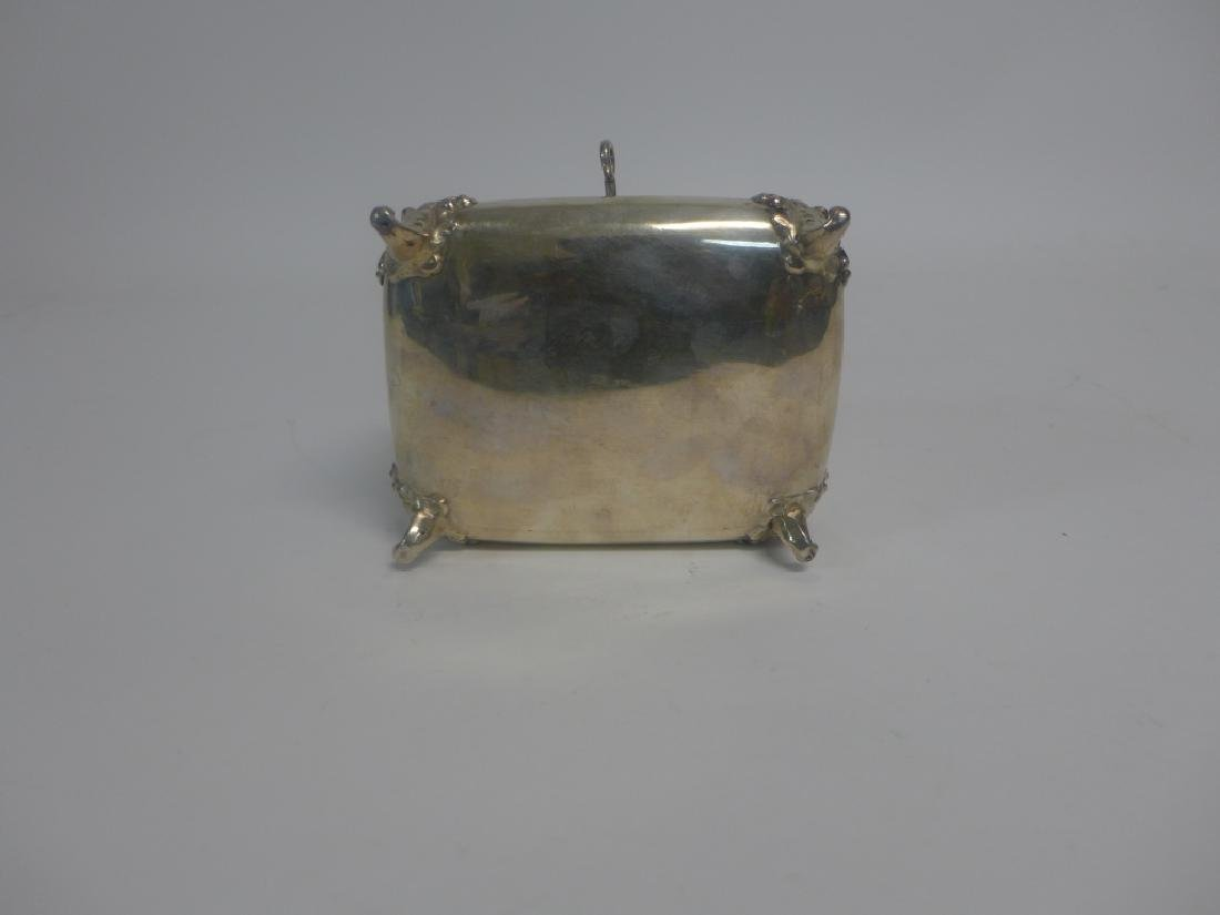 Sterling Silver Footed Trinket Box - 5