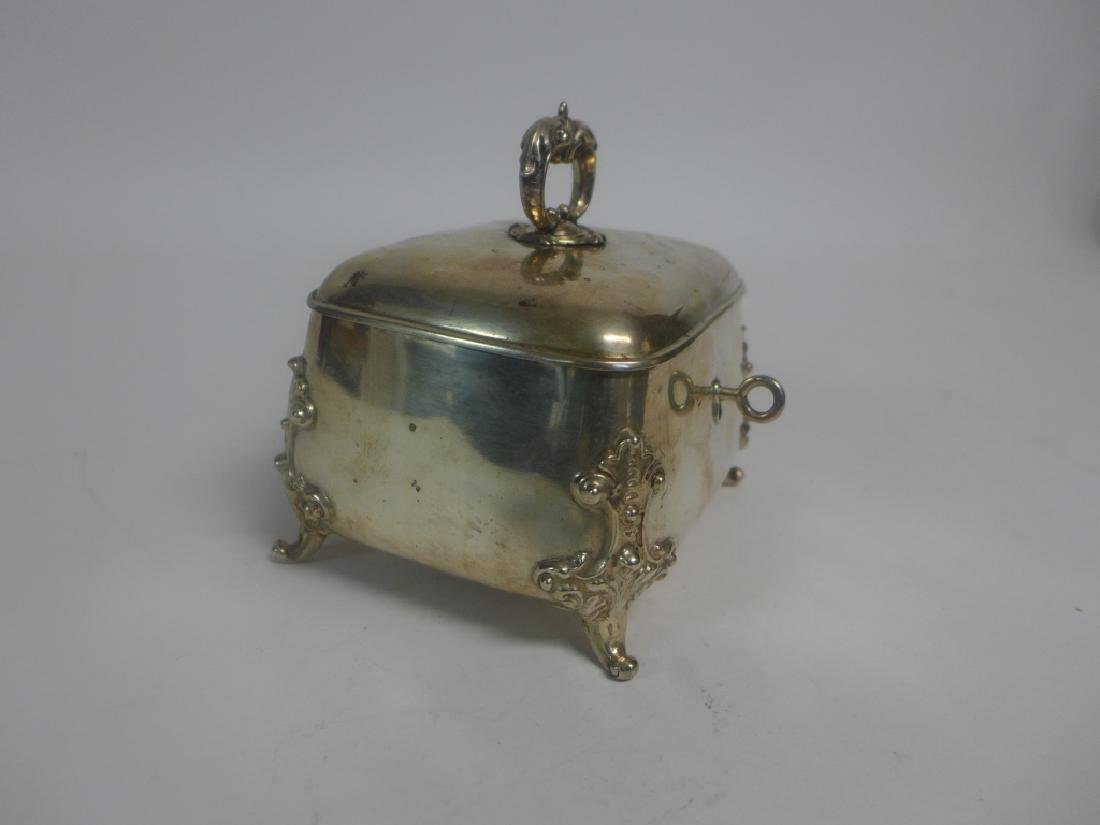 Sterling Silver Footed Trinket Box - 6