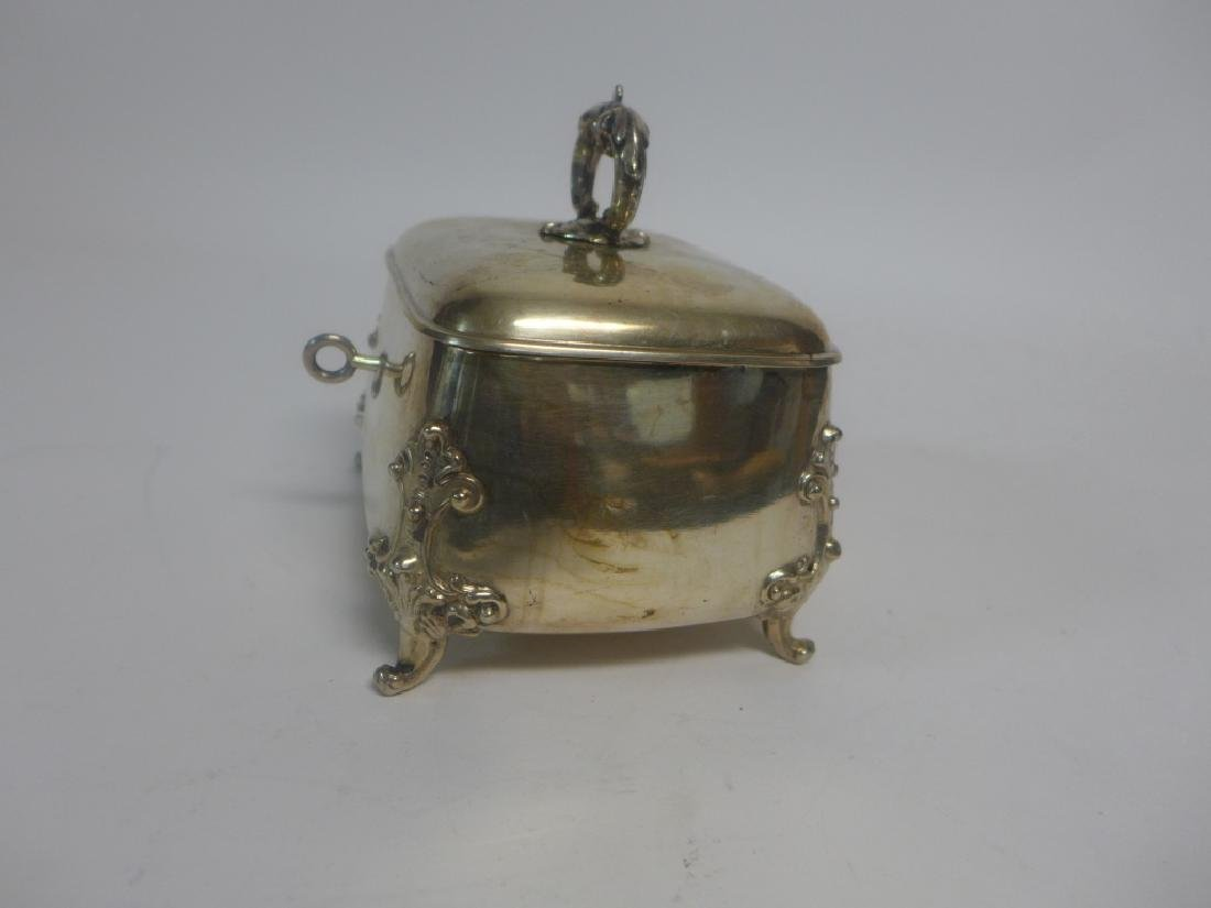 Sterling Silver Footed Trinket Box - 7