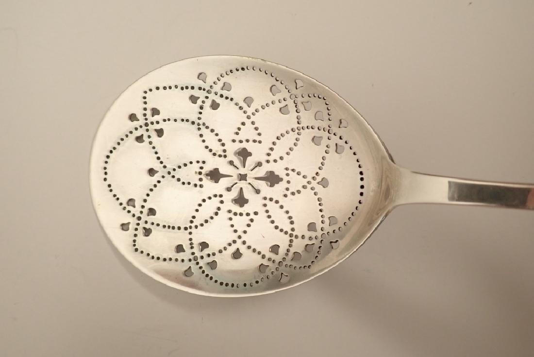 Tiffany & Co Sterling Silver Pierced Serving Spoon - 6