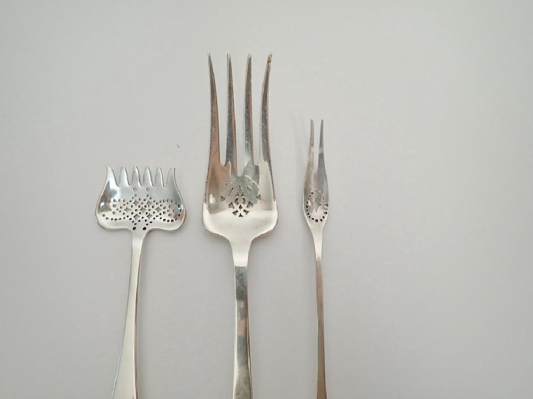 3 pc Tiffany & Co Sterling Silver Serving Forks - 2