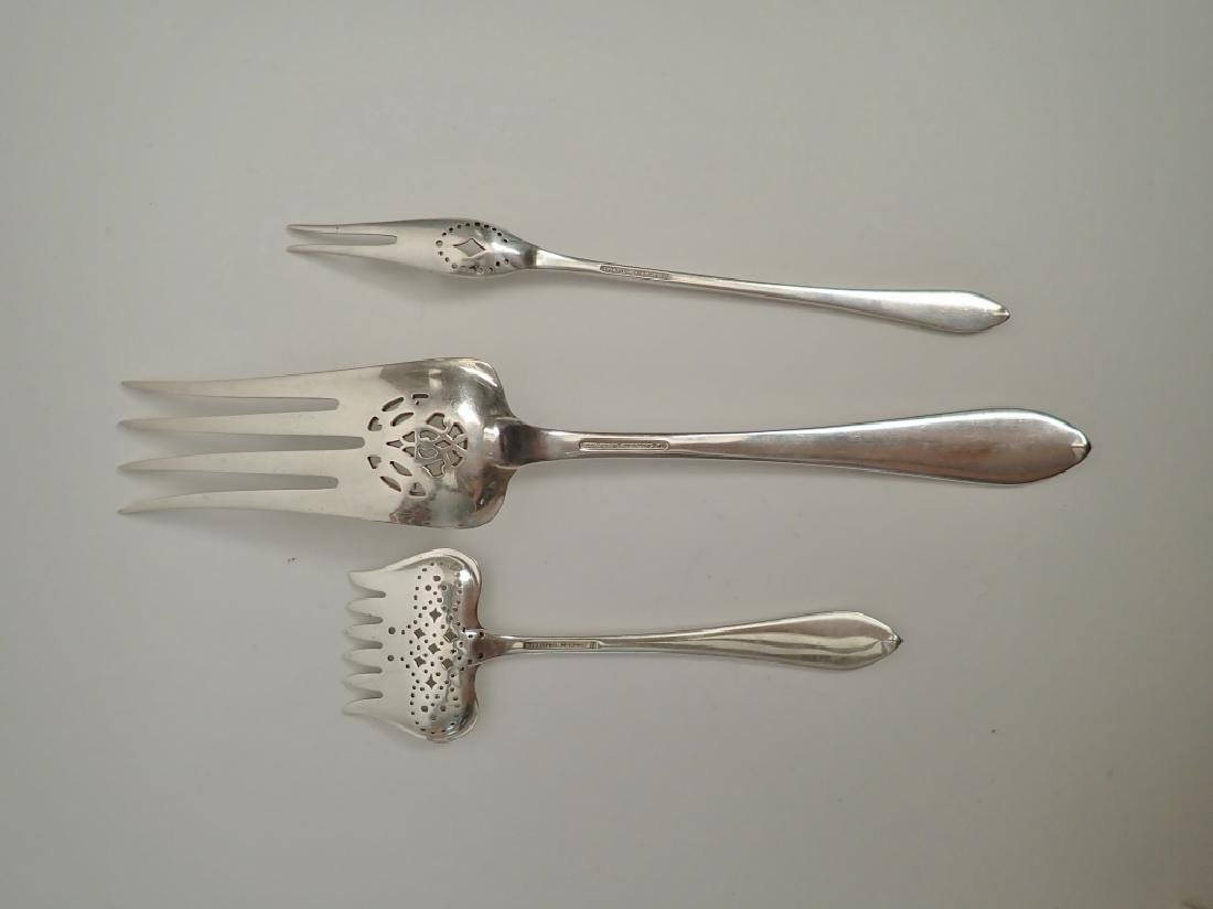 3 pc Tiffany & Co Sterling Silver Serving Forks - 3