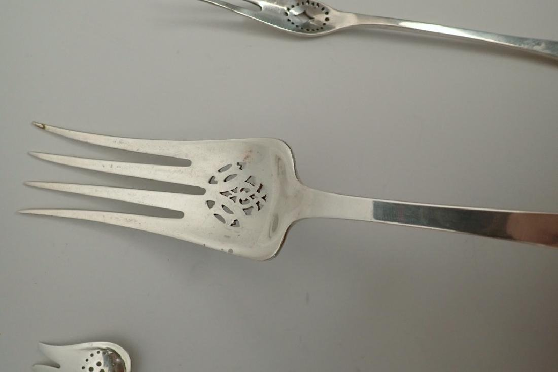 3 pc Tiffany & Co Sterling Silver Serving Forks - 7