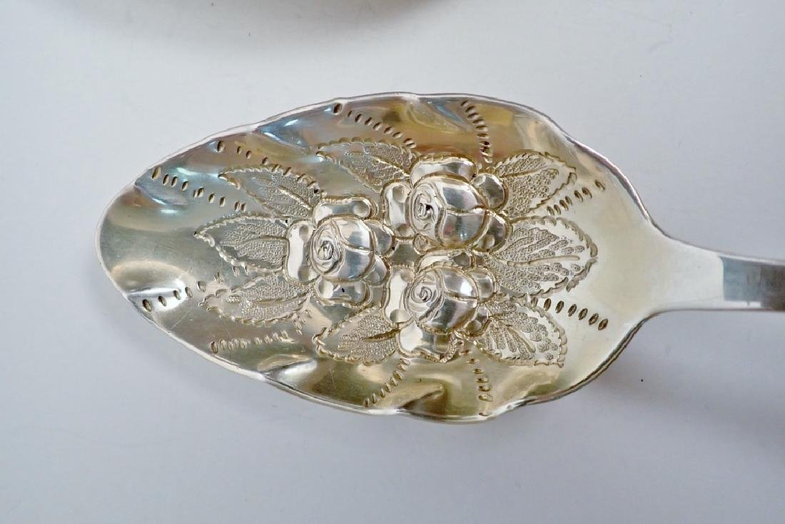 3 Tiffany Sterling Chased & Gilt Serving Spoons - 5
