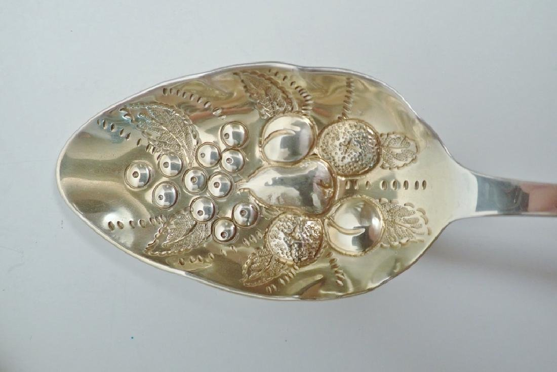 3 Tiffany Sterling Chased & Gilt Serving Spoons - 6