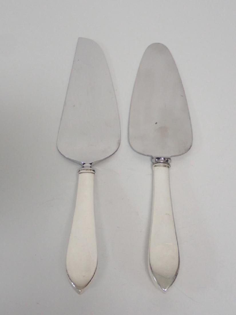 Two Tiffany Sterling Silver Pie Servers