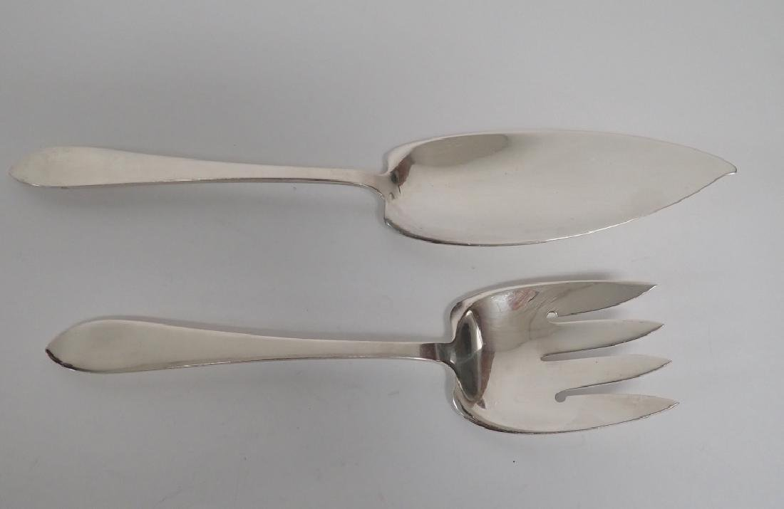 2 Piece Faneuil Tiffany Sterling Fish Server Set