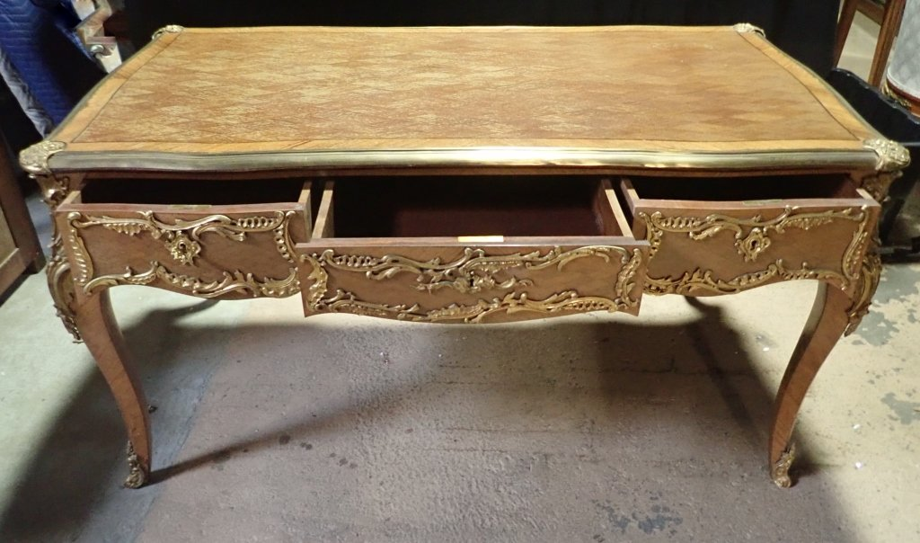 Louis XVI Style Bureau Plat Writing Desk - 10