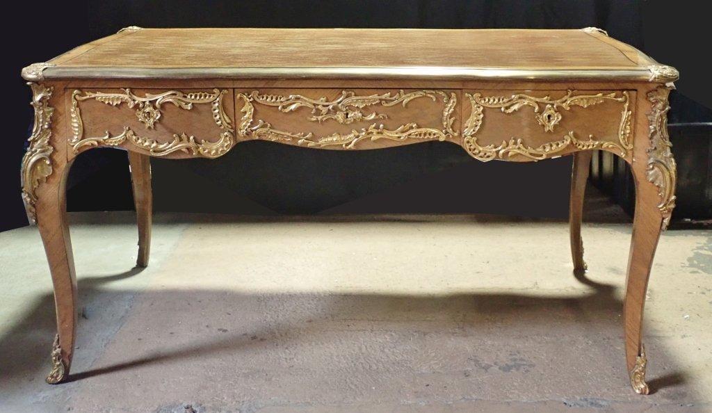 Louis XVI Style Bureau Plat Writing Desk