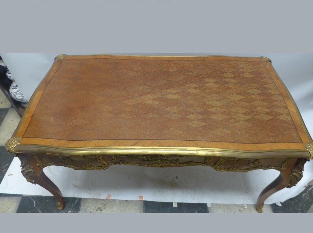 Louis XVI Style Bureau Plat Writing Desk - 2