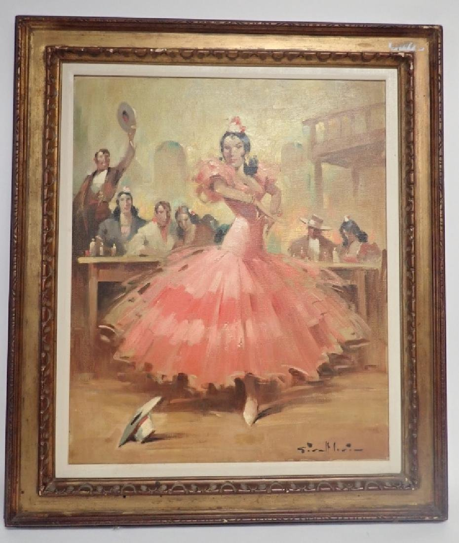 Flamenco Dancer Oil Painting by Givalt Levin