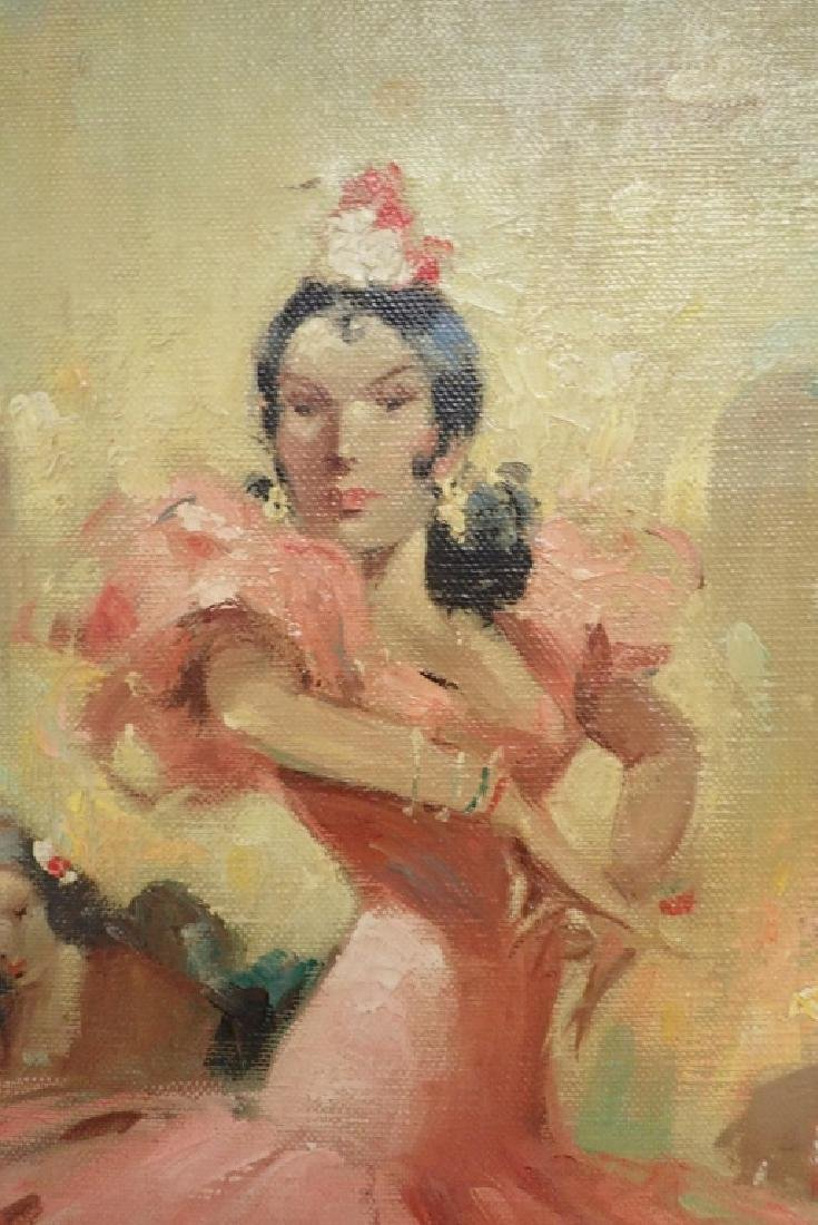 Flamenco Dancer Oil Painting by Givalt Levin - 3