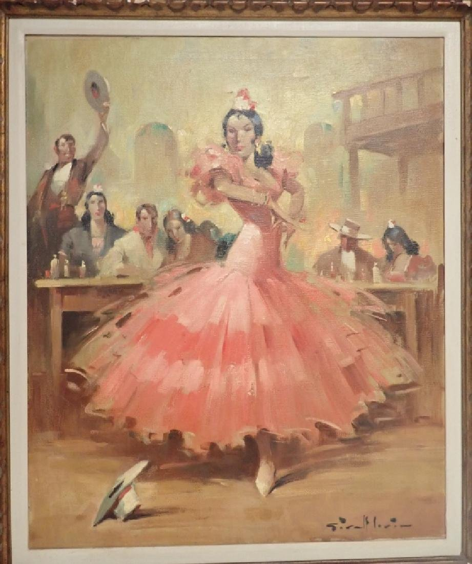 Flamenco Dancer Oil Painting by Givalt Levin - 5