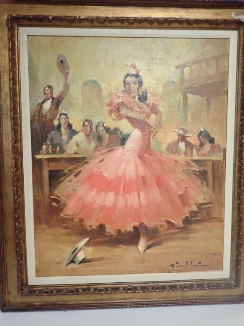 Flamenco Dancer Oil Painting by Givalt Levin - 9
