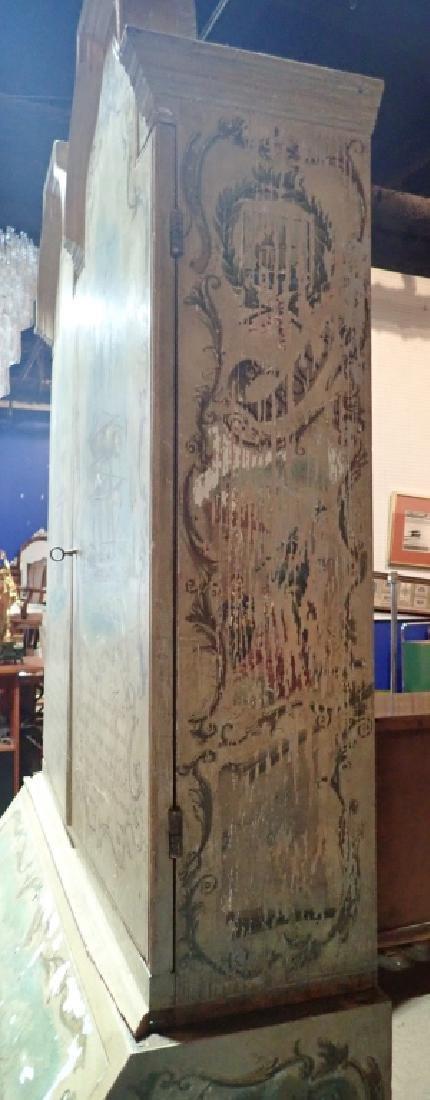 Vintage Continental Hand Painted Secretary - 5