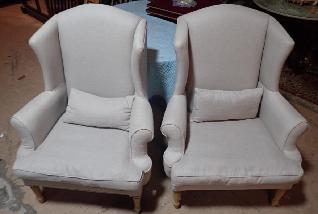 Pair Upholstered Arm Chairs - 2