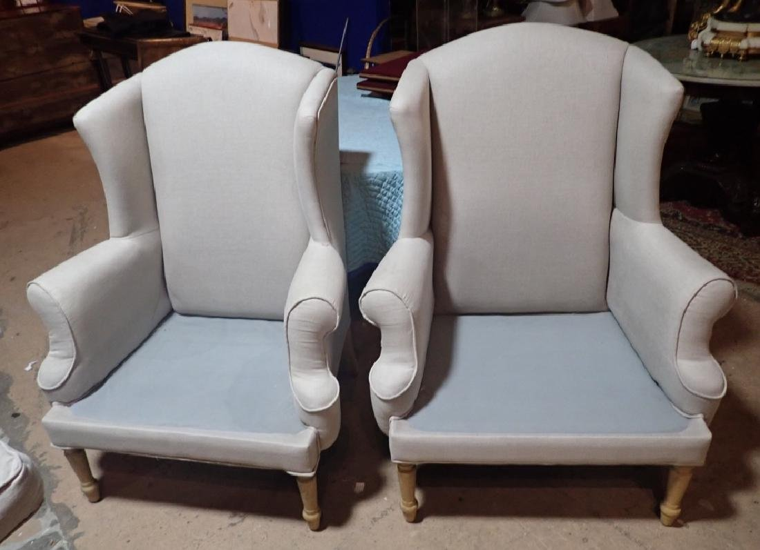 Pair Upholstered Arm Chairs - 3