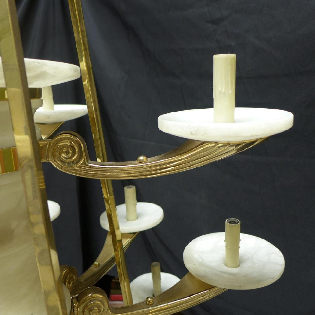 Large Three Tier Alabaster Chandelier - 9