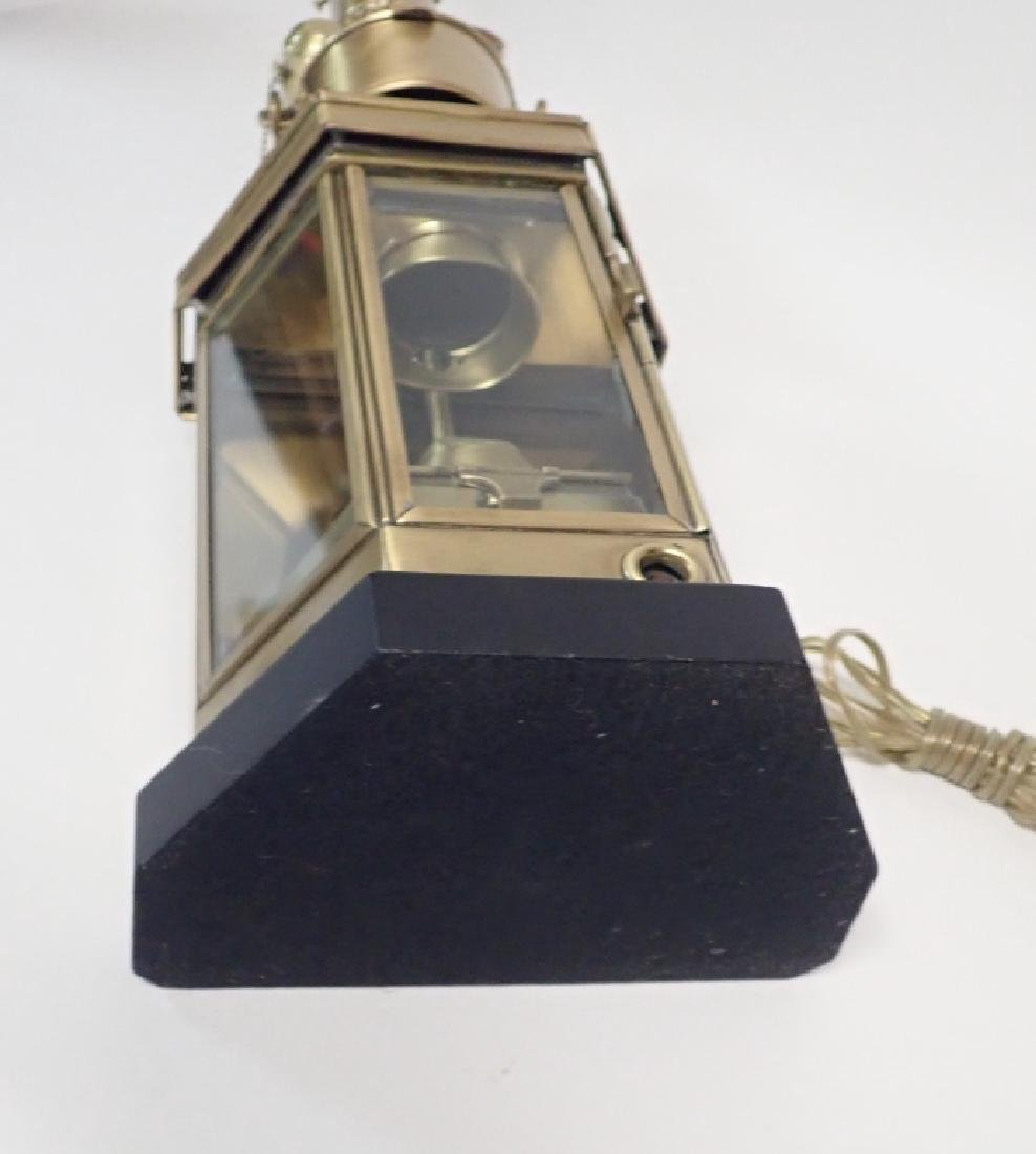 Brass Ship's Lantern as Lamp - 10