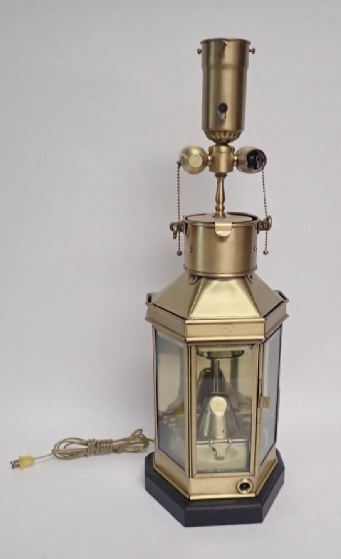 Brass Ship's Lantern as Lamp