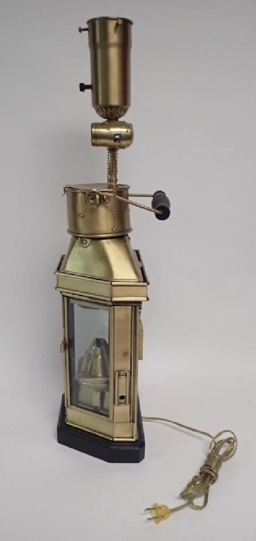 Brass Ship's Lantern as Lamp - 3