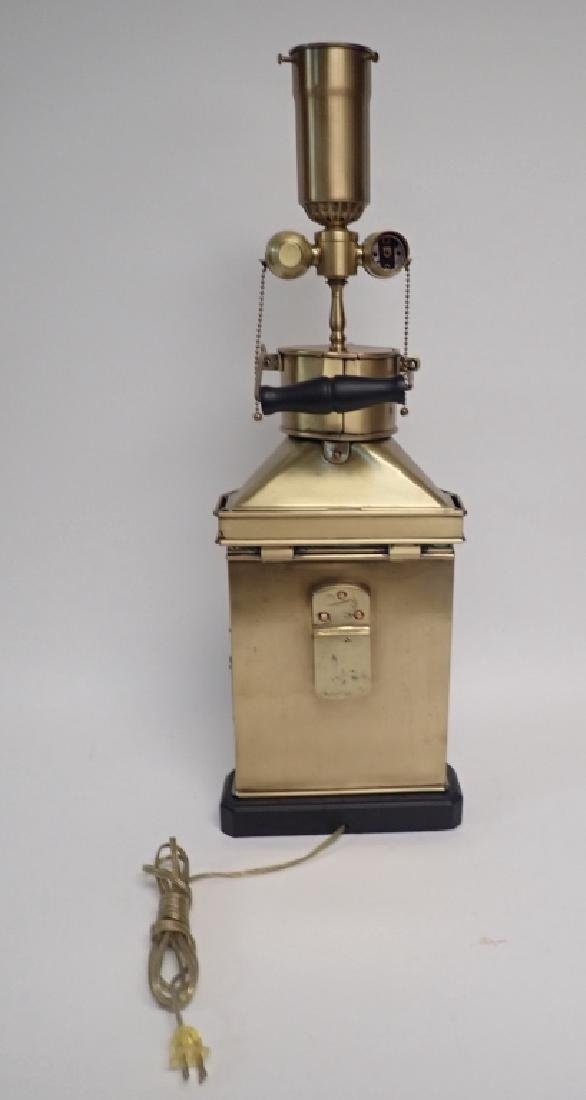 Brass Ship's Lantern as Lamp - 4