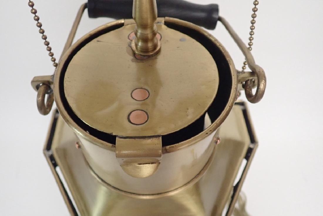 Brass Ship's Lantern as Lamp - 6